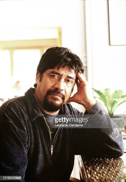 Chilean writer Luis Sepulveda Gijon 11th April 2003 Photo by Leonardo Cendamo / Getty Images