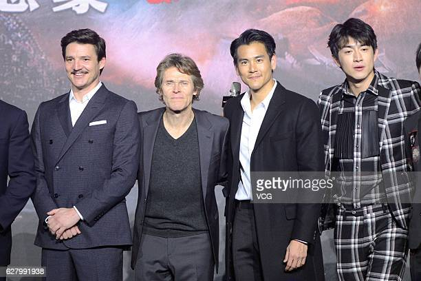 Chileanborn American actor Pedro Pascal American actor Willem Dafoe actor Eddie Peng Yuyan and actor Lin Gengxin attend the premiere of director...