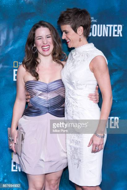 Chilena Kennedy and Jenn Colella attend the National Geographic Encounter Blue Carpet VIP Preview Celebration on October 4 2017 in New York City