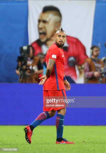 Chile's Arturo Vidal after the Confederations Cup finale between Chile and Germany at the Saint Petersburg Stadium in Saint Petersburg Russia 2July...