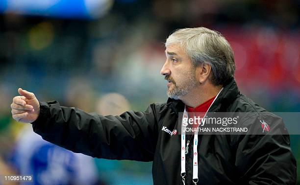 Chile's coach Capurro Fernando Luis reacts during the 2011 Men's Handball World Championships group D match Chile vs Korea on January 15 2011 in...