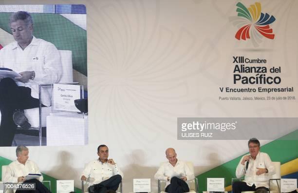 Chile's Finance Minister Felipe Larrain Peruvian Minister of Economy Carlos Oliva Mexican Secretary of Finance and Public Credit Jose Antonio...