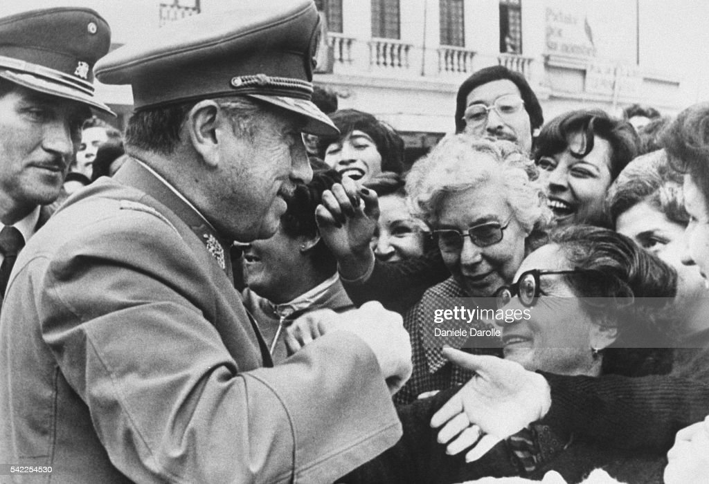 General Augusto Pinochet Meets Chileans : News Photo