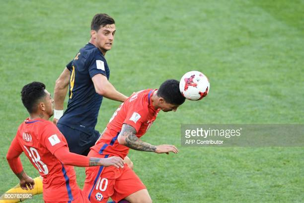 Chile's midfielder Pablo Hernandez during the 2017 Confederations Cup group B football match between Chile and Australia at the Spartak Stadium in...