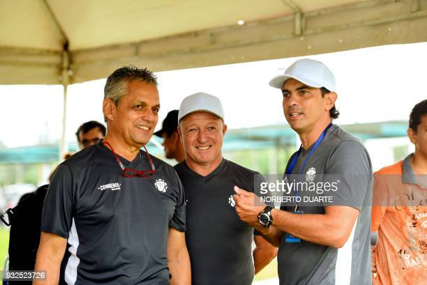 Chile's national football team coach Colombian Reinaldo Rueda takes part in a programme called 'Evolution' by Conmebol and FIFA experts aimed at...