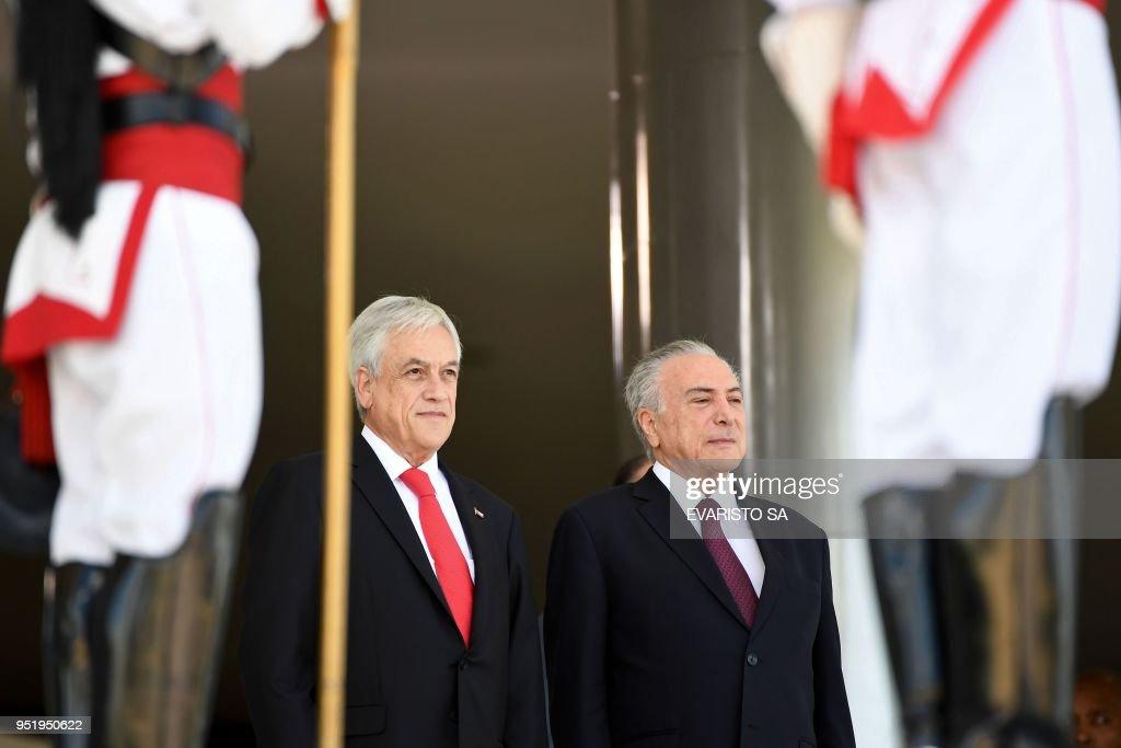 BRAZIL-CHILE-TEMER-PINERA : News Photo