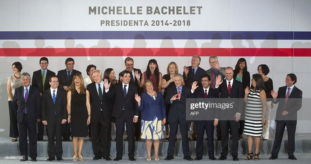CHILE-POLITICS-BACHELET-CABINET : News Photo