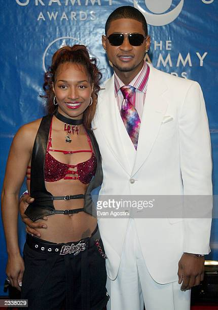 Chili and Usher arrive at the 45th Annual Grammy Awards at Madison Square Garden on February 23 2003 in New York City