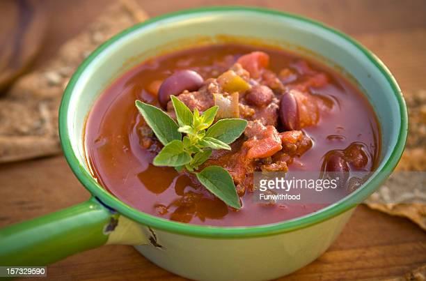 チリ豆のシチューボウル&野菜スープポット、ヘルシーなお料理
