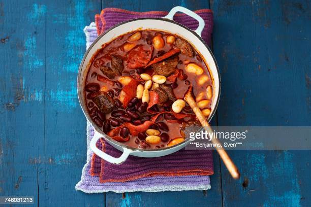 chili con carne - savory food stock pictures, royalty-free photos & images