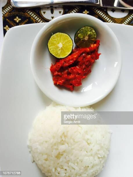 Chili Sambal and rice