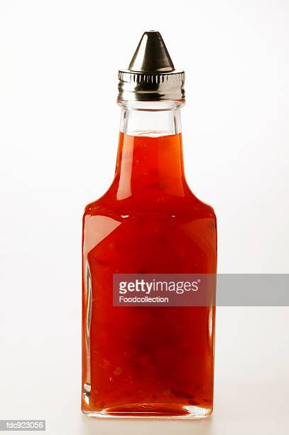 Chili sauce in small bottle