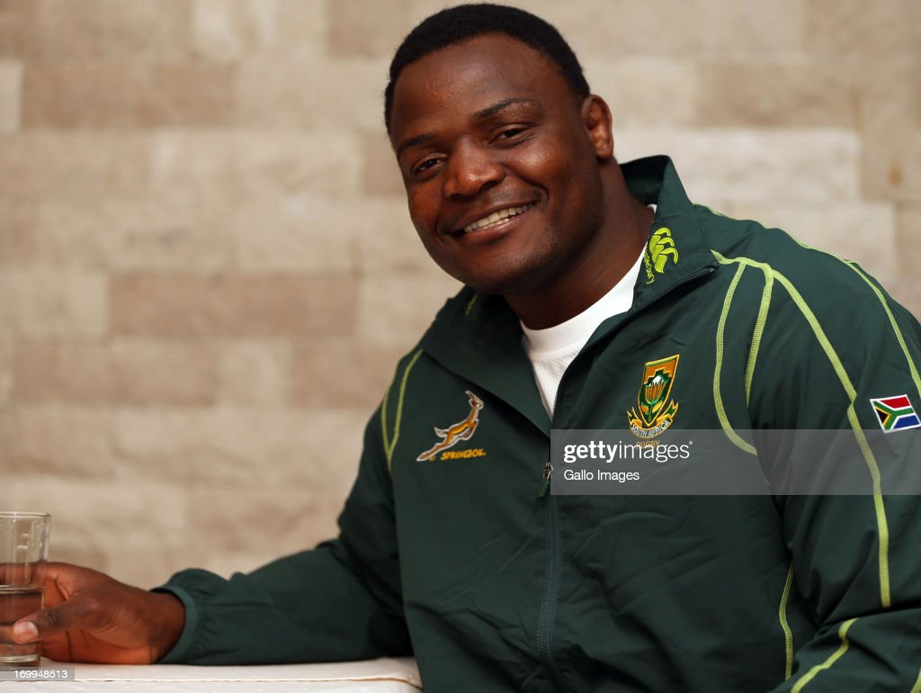Chiliboy Ralepelle during the Springboks team announcement at Kashmir Restaurant on June 05, 2013 in Durban, South Africa.