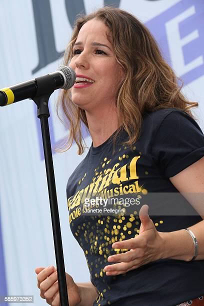 Chilina Kennedy from the cast of BEAUTIFUL performs at 1067 LITE FM's Broadway in Bryant Park 2016 at Bryant Park on August 4 2016 in New York City