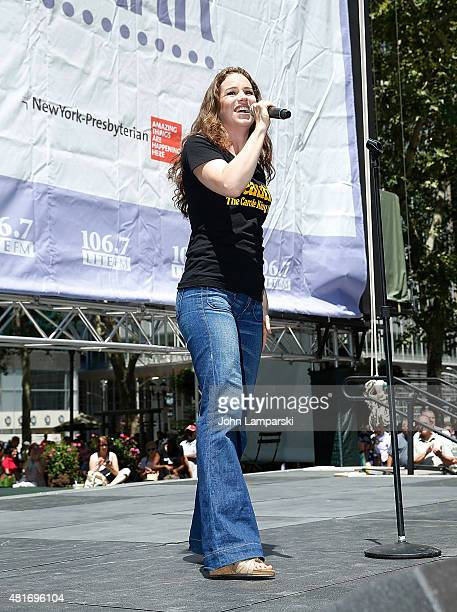 Chilina Kennedy performs during 1067 LITE FM's Broadway in Bryant Park 2015 at Bryant Park on July 23 2015 in New York City