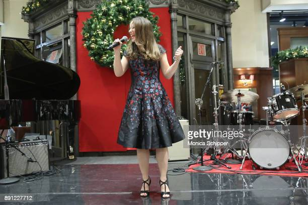 Chilina Kennedy performs onstage as Brooks Brothers celebrates the holidays with St Jude Children's Research Hospital on December 12 2017 in New York...