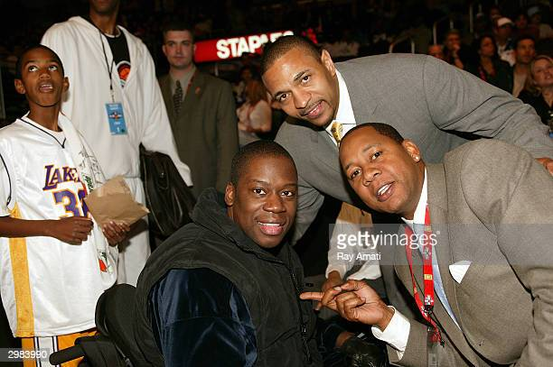 Chill Mitchell Mark Jackson and Mark Curry during AllStar Weekend on February 14 2004 at the Staples Center in Los Angeles California NOTE TO USER...