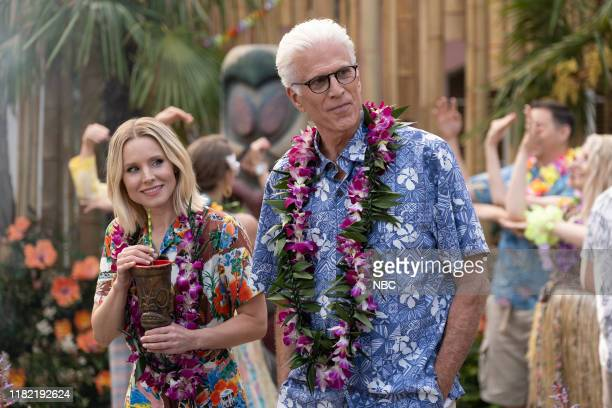 """Chillaxing"""" Episode 403 -- Pictured: Kristen Bell as Eleanor, Ted Danson as Michael --"""