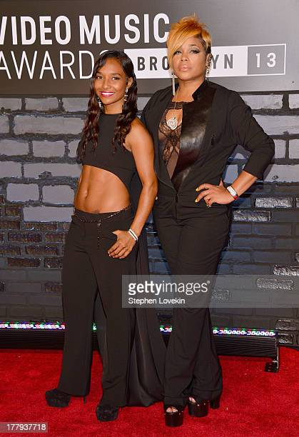 Chilli and TBoz of TLC attend the 2013 MTV Video Music Awards at the Barclays Center on August 25 2013 in the Brooklyn borough of New York City