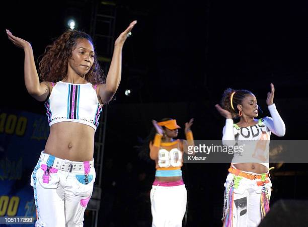 """Chilli and T-Boz of TLC in their last concert as a group, following the death of member Lisa """"Left Eye"""" Lopes last year."""