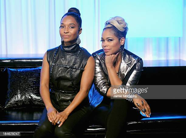 Chilli and TBoz of TLC Stop By Music Choice's You A on October 14 2013 in New York City
