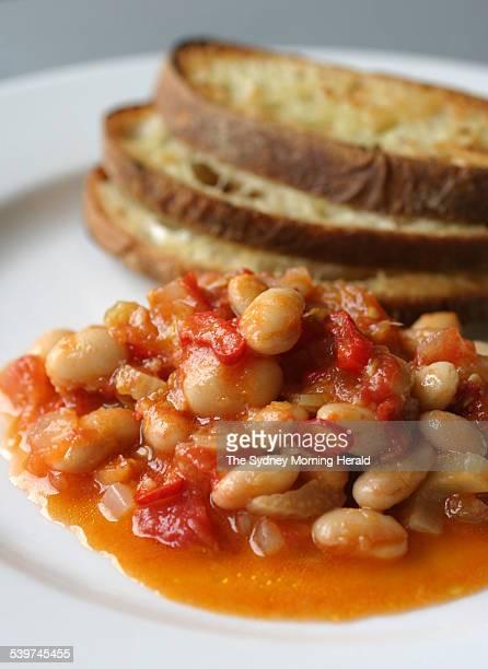 Chilli bean relish with garlic bruschetta 25 January 2006 SMH Picture by QUENTIN JONES