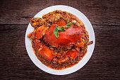 Chilli crab asia cuisine.
