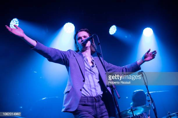 Chilli Jesson of Crewel Intentions performs on stage at Barrowland Ballroom on November 15, 2018 in Glasgow, Scotland.