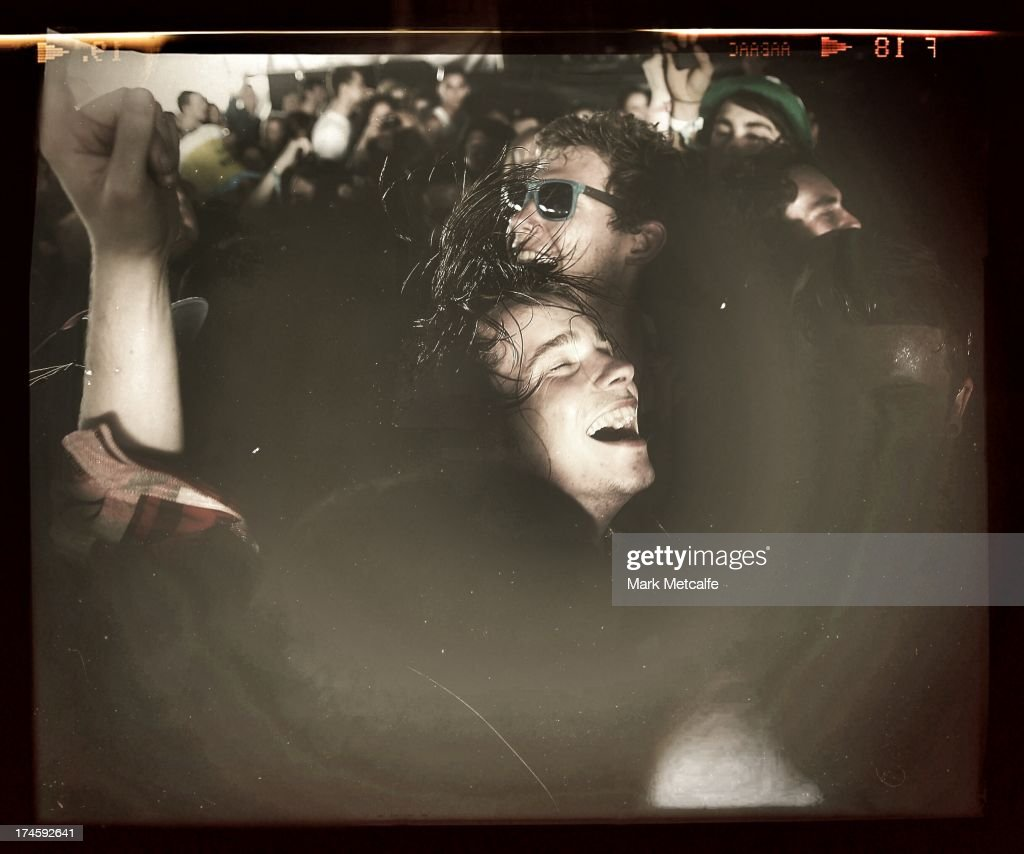 Chilli Jesson of Palma Violets performs amongst the crowd on day 2 of the 2013 Splendour In The Grass Festival on July 27, 2013 in Byron Bay, Australia.