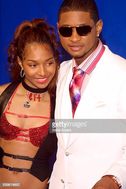 Chilli of TLC and Usher arriving at the 45th Annual Grammy Awards Photo by Steve Azzara/Corbis Sygma