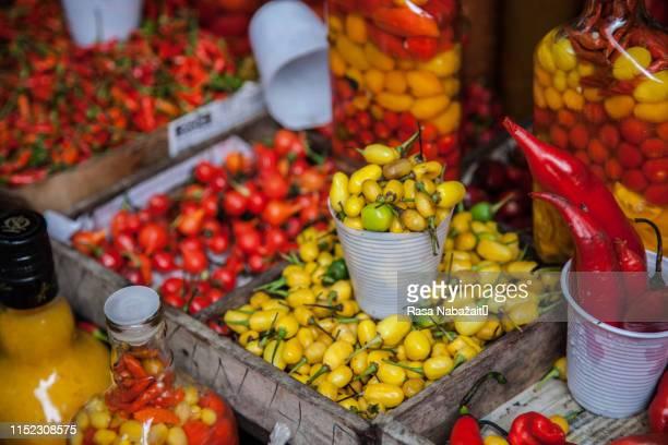 chilli peppers - recife stock-fotos und bilder