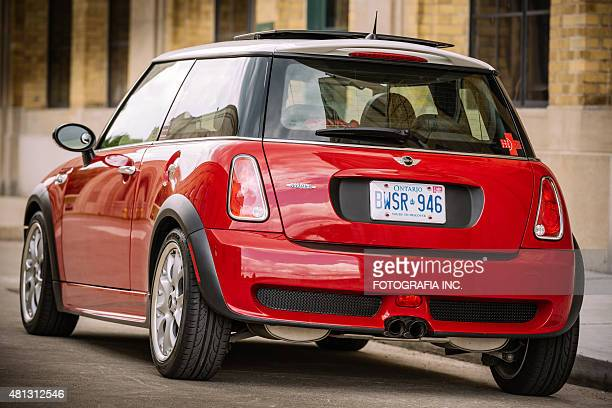 chilli red mini cooper s jcw - bumper stock pictures, royalty-free photos & images