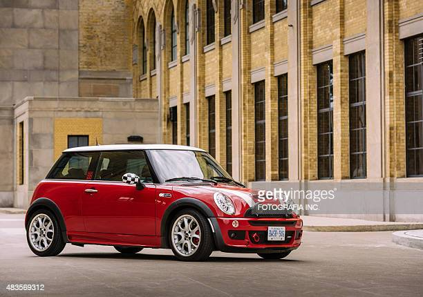 chilli red mini cooper s jcw - mini cooper stock pictures, royalty-free photos & images