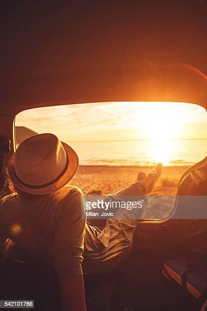 Chillin' in my car