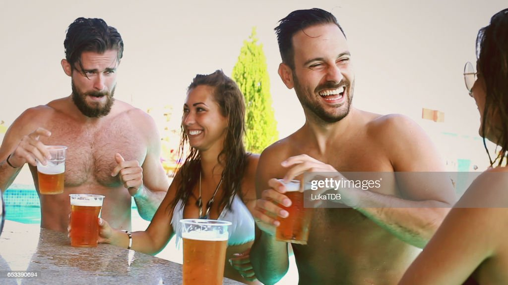 Chilling at the bar : Stock Photo
