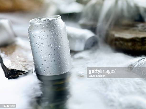 Chilling Beer in a Stream