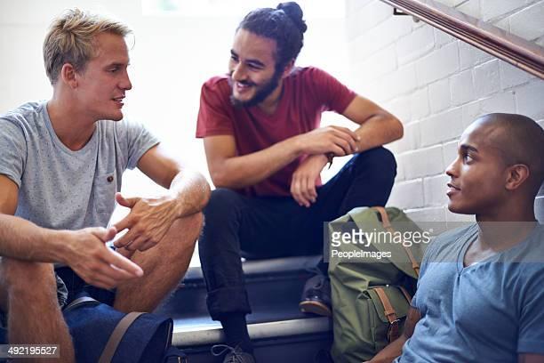Chillen mit den Jungs nach dem Kurs