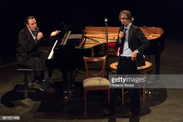 Chilly Gonzales and Jarvis Cocker perform 'Room 29' on stage at King's Theatre as part of the 70th Edinburgh International Festival on August 22,...