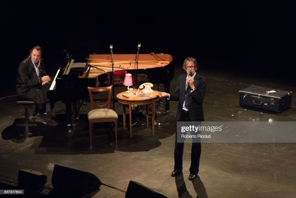 Chilly Gonzales and Jarvis Cocker perform 'Room 29' on stage at King's Theatre as part of the 70th Edinburgh International Festival on August 22, 2017 in Edinburgh, Scotland.