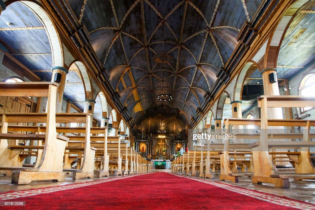 Church of Santa Maria de Loreto, UNESCO World Heritage Site, interior.