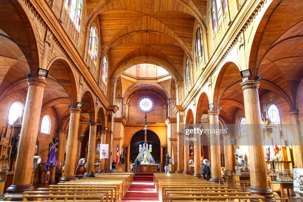 Castro, wooden Church of San Francisco. : News Photo