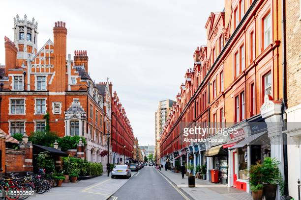 chiltern street in marylebone district, london, england, uk - high society stock pictures, royalty-free photos & images