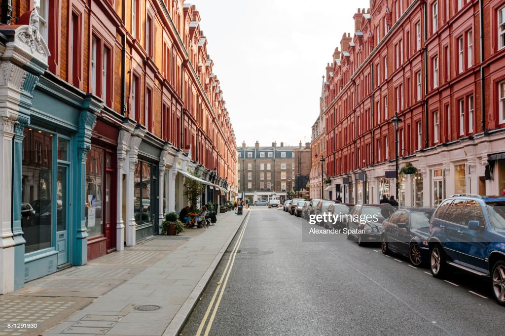 Chiltern Street on a sunny day, London, UK : Stock-Foto