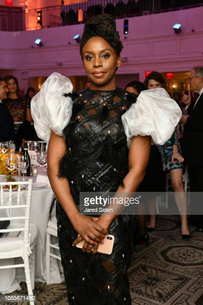 Chimamanda Adichie attends the 2018 Action Against Hunger Gala at 583 Park Avenue on October 30 2018 in New York City