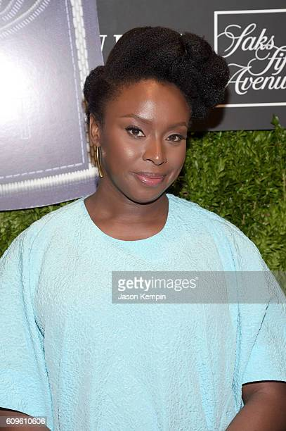 Chimamanda Adichie attends the Saks Fifth Avenue Vanity Fair 2016 International Best Dressed List Celebration at Saks Fifth Avenue on September 21...