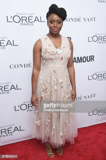 Chimamanda Ngozi Adichie attends Glamour's 2017 Women of The Year Awards at Kings Theatre on November 13 2017 in Brooklyn New York