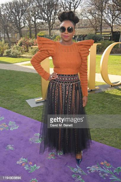 Chimamanda Ngozi Adichie attends the Dior Haute Couture Spring/Summer 2020 show as part of Paris Fashion Week at Musee Rodin on January 20 2020 in...