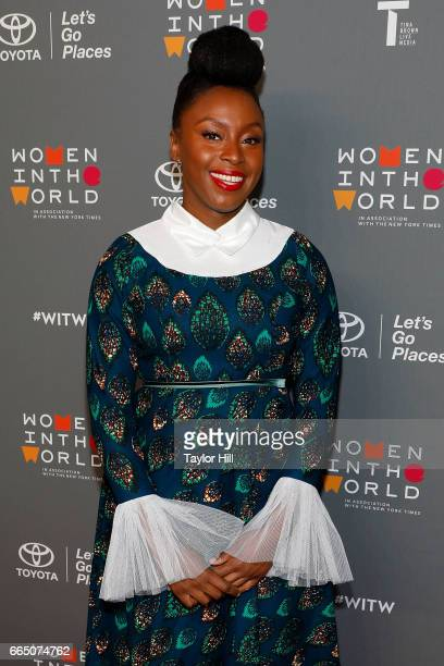 Chimamanda Ngozi Adichie attends the Eighth Annual Women In The World Summit at Lincoln Center for the Performing Arts on April 5 2017 in New York...