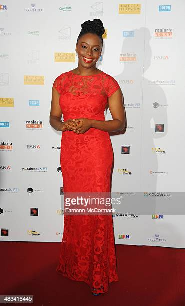 Chimamanda Ngozi Adichie attends the UK Premiere of 'Half Of The Yellow Sun' at Odeon Streatham on April 8 2014 in London England