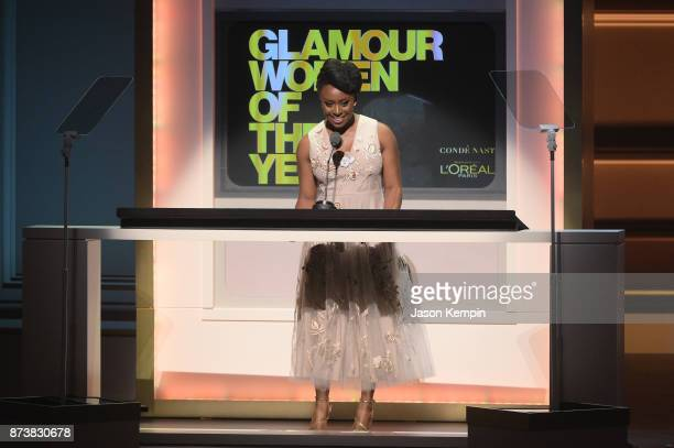 Chimamanda Ngozi Adichie speaks onstage at Glamour's 2017 Women of The Year Awards at Kings Theatre on November 13 2017 in Brooklyn New York